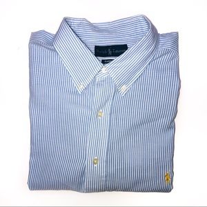Ralph Lauren's Men's Pinstripe Short Sleeve 4XLT